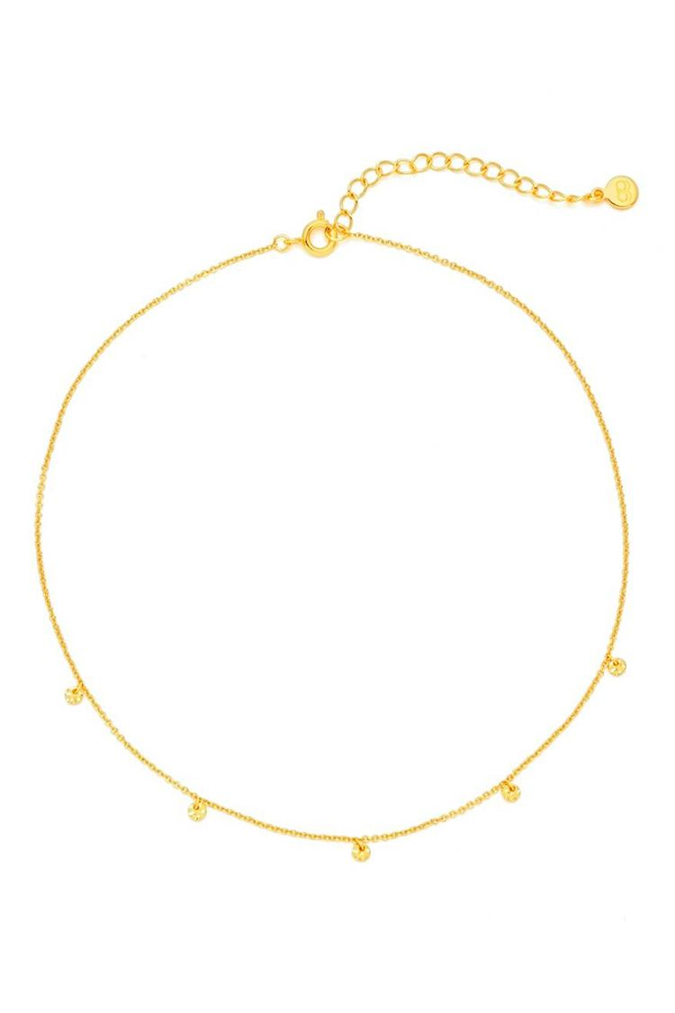 gorjana gold choker necklace