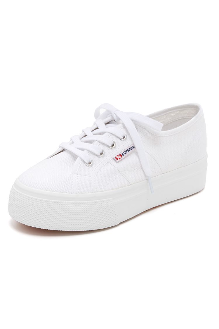 superga platform sneakers white