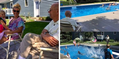 94 year old man installs in ground pool for neighbordhood kids