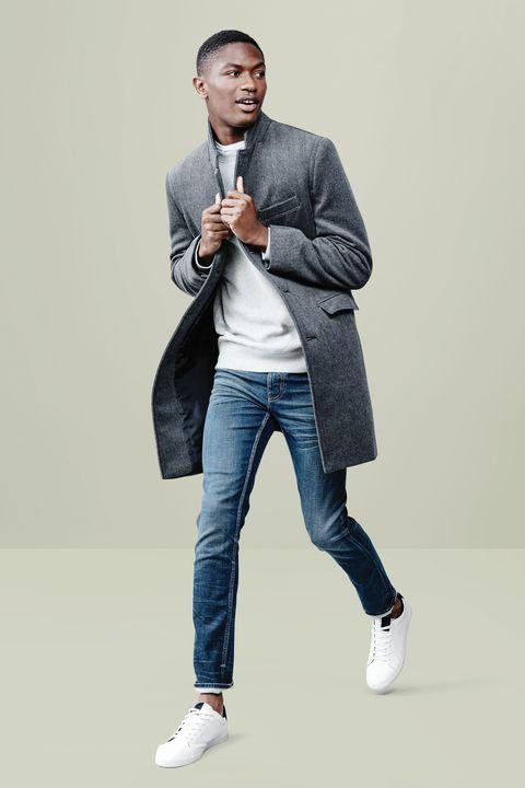 Jeans, White, Denim, Standing, Product, Fashion, Footwear, Shoe, Shoulder, Textile,