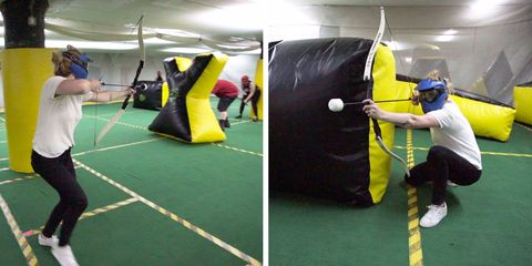 archery tag at indoor extreme sports