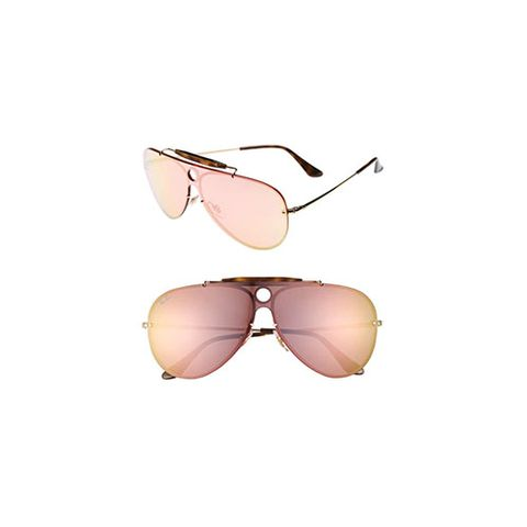 "<p><strong data-verified=""redactor"" data-redactor-tag=""strong""><em data-verified=""redactor"" data-redactor-tag=""em"">Ray-Ban Aviator Shield Sunglasses, $195&nbsp;</em><span class=""redactor-invisible-space"" data-verified=""redactor"" data-redactor-tag=""span"" data-redactor-class=""redactor-invisible-space""></span></strong><span class=""redactor-invisible-space"" data-verified=""redactor"" data-redactor-tag=""span"" data-redactor-class=""redactor-invisible-space""><a href=""http://shop.nordstrom.com/s/ray-ban-aviator-shield-sunglasses/4686279"" target=""_blank"" class=""slide-buy--button"" data-tracking-id=""recirc-text-link"">BUY NOW</a></span></p><p>These Ray Ban sunnies give the '80s look an updated and refreshing style. This pair is also available in green and purple mirroring.</p>"