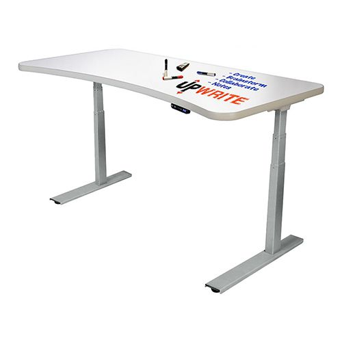 """<p><strong data-redactor-tag=""""strong""""><em data-redactor-tag=""""em"""">from $899<a href=""""https://www.myupdesk.com/upwrite/upwrite-white-silver"""" target=""""_blank"""" class=""""slide-buy--button"""" data-tracking-id=""""recirc-text-link"""">BUY NOW</a></em></strong></p><p><strong data-redactor-tag=""""strong"""">Best for Creatives</strong></p><p><span class=""""redactor-invisible-space"""" data-verified=""""redactor"""" data-redactor-tag=""""span"""" data-redactor-class=""""redactor-invisible-space"""">The UpDesk UpWrite is a standing desk with a nifty twist. It features motorized controls for easy height adjustment like most other desks, but it has a whiteboard surface to jot down notes and ideas. Some may see the whiteboard as gimmicky, but the feature is actually quite useful.<span class=""""redactor-invisible-space"""" data-verified=""""redactor"""" data-redactor-tag=""""span"""" data-redactor-class=""""redactor-invisible-space""""> Besides the unique surface, the desk supports 300 pounds, and itcomes with a silver or black frame. Both framesare modern and will match most office decors.</span></span></p><p><span class=""""redactor-invisible-space"""" data-verified=""""redactor"""" data-redactor-tag=""""span"""" data-redactor-class=""""redactor-invisible-space""""><span class=""""redactor-invisible-space"""" data-verified=""""redactor"""" data-redactor-tag=""""span"""" data-redactor-class=""""redactor-invisible-space"""">The desk's4.5-inch curved indent makes it stand out from every other rectangle desk<span class=""""redactor-invisible-space"""" data-verified=""""redactor"""" data-redactor-tag=""""span"""" data-redactor-class=""""redactor-invisible-space"""">, too. The UpWrite is a functional desk that looks great and remains stable, and its whiteboard surface does more than just hold your things.</span></span></span></p>"""