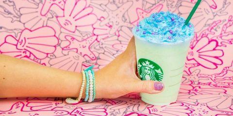 Drink, Wrist, Pink, Drinking straw, Drinkware, Nail, Aqua, Bracelet, Logo, Teal,