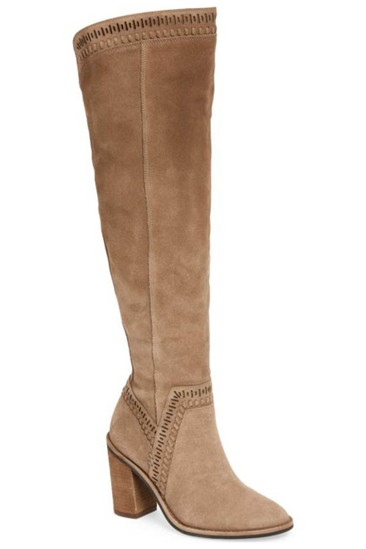 vince camuto foxy tan suede over the knee boots