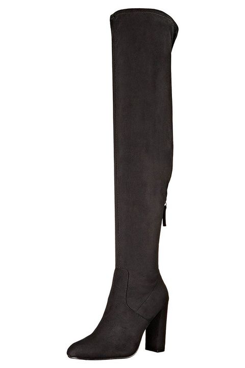 steve madden suede over the knee emotions black boots