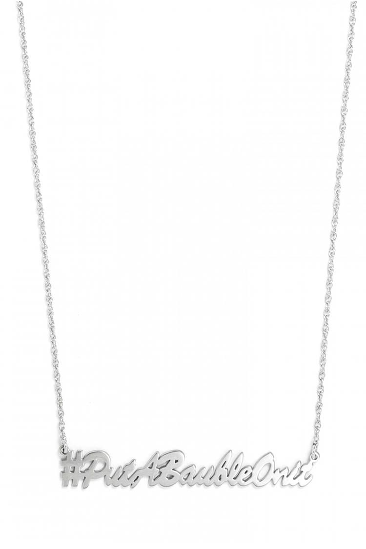 baublebar freehand script necklace silver