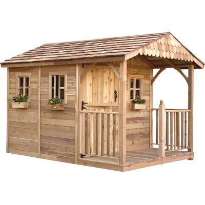 Outdoor Living Today Santa Rosa 8 Ft. W x 12 Ft. D Wood Storage Shed
