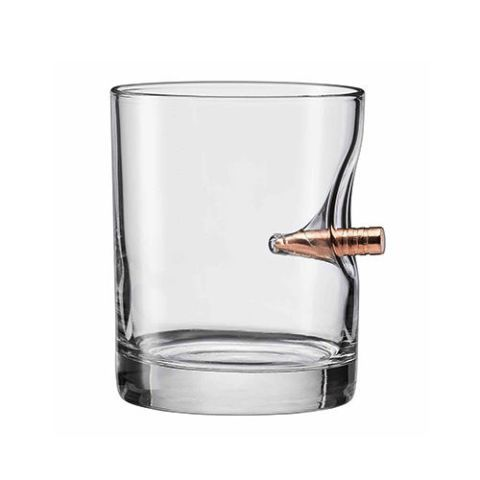 Ben Shot USA Original Bullet Rocks Glass
