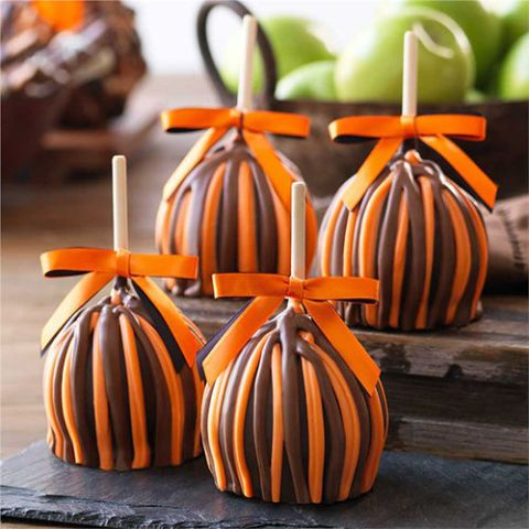 Mrs. Prindables Halloween Petite Caramel Apple 4-Pack