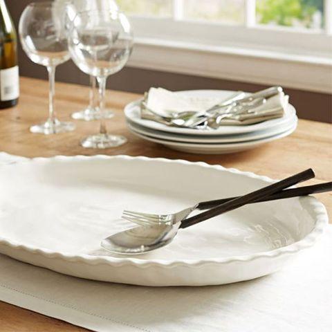 Pottery Barn Napoli Oval Serving Platter