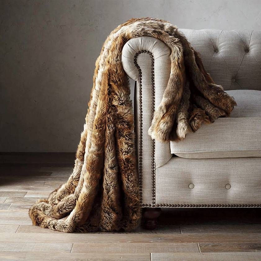 Frontgate Luxury Faux Fur Throw