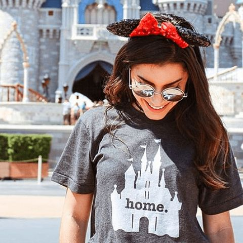 $30 BUY NOW   They say home is where the heart is, so if yours ispermanentlyat Cinderella's castle, this is the perfect shirt for you.