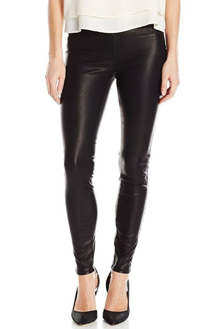 blank nyc faux leather leggings in black