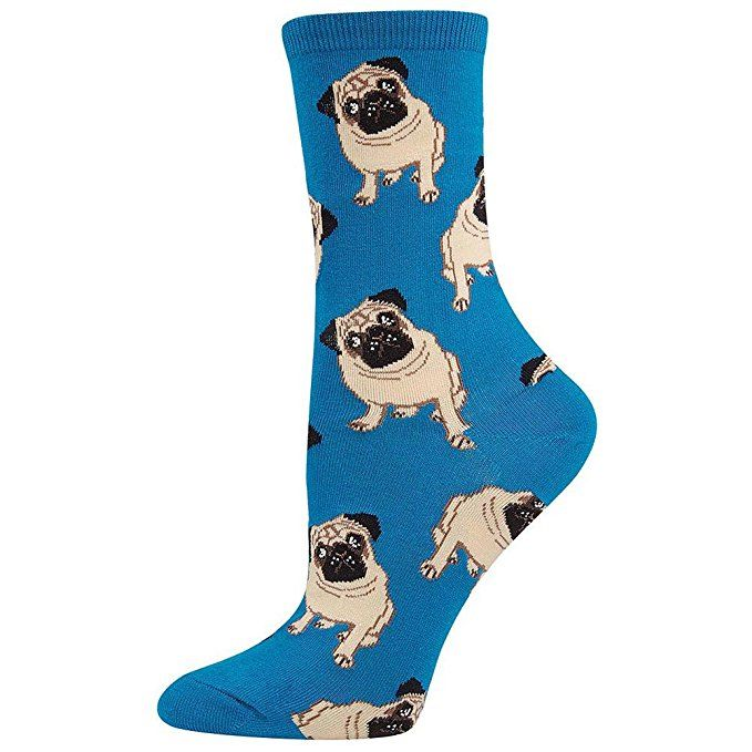"<p><strong data-redactor-tag=""strong"" data-verified=""redactor""><em data-redactor-tag=""em"" data-verified=""redactor"">$9</em></strong> <a href=""https://www.amazon.com/Socksmith-Womens-Pugs-Peach-Sock/dp/B00JJRRP44/?tag=bp_links-20"" target=""_blank"" class=""slide-buy--button"" data-tracking-id=""recirc-text-link"">BUY NOW</a></p><p>The only time it's OK to step on a puggo is when they're on your socks! </p>"