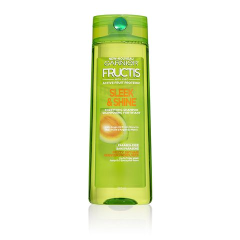 "<p><strong data-redactor-tag=""strong""><em data-redactor-tag=""em"">$4</em> <a href=""https://www.target.com/p/garnier-174-fructis-174-with-active-fruit-protein-153-sleek-shine-fortifying-shampoo-with-argan-oil-from-morocco-12-5oz/-/A-51850449"" target=""_blank"" class=""slide-buy--button"">BUY NOW</a></strong><br></p><p>This frizz-fighting shampoo was tested in 97% humidity conditions. Need we say more? OK, one more thing: The argan oil-infused formula helps smooth the hair cuticle, resulting in sleeker hair that's less prone to frizzing.</p>"