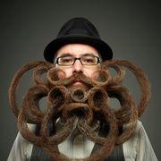 Facial hair, Hair, Beard, Moustache, Hairstyle, Eyewear, Glasses, Cool,