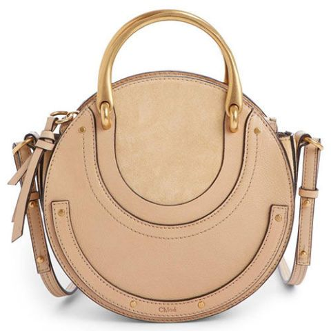 chloe pixie round leather crossbody bag
