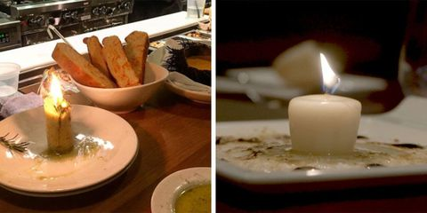 Meat candles are served at EDGE Restaurant and Bar at the Four Seasons in Denver