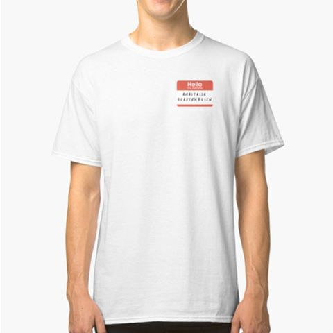 "<p><strong data-redactor-tag=""strong"" data-verified=""redactor""><em data-redactor-tag=""em"" data-verified=""redactor"">$24</em></strong> <a href=""https://www.redbubble.com/people/georgmors/works/24983897-karen-walker?grid_pos=16&amp;p=classic-tee&amp;rbs=7acfc113-49f3-45eb-b191-d34a1646b89c&amp;ref=shop_grid"" target=""_blank"" class=""slide-buy--button"" data-tracking-id=""recirc-text-link"">BUY NOW</a></p><p>Can you guess what the name tag printed on this tee says? If you said ""Anastasia Beaverhausen,"" you'd be correct! Karen's infamous alias strikes again!&nbsp;</p><p><strong data-redactor-tag=""strong"" data-verified=""redactor"">More:</strong> <a href=""http://www.bestproducts.com/lifestyle/g2706/best-golden-girls-merchandise-shirts-gifts/"" target=""_blank"" data-tracking-id=""recirc-text-link"">The Most Amazing <em data-redactor-tag=""em"" data-verified=""redactor"">Golden Girls</em> Gifts for Your Squad</a></p>"