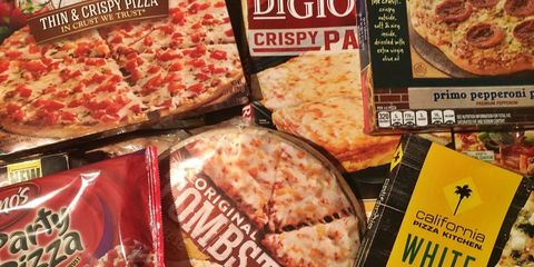 Food, Dish, Cuisine, Ingredient, Convenience food, Pepperoni, Prepackaged meal, Pizza, Flatbread, Patty,