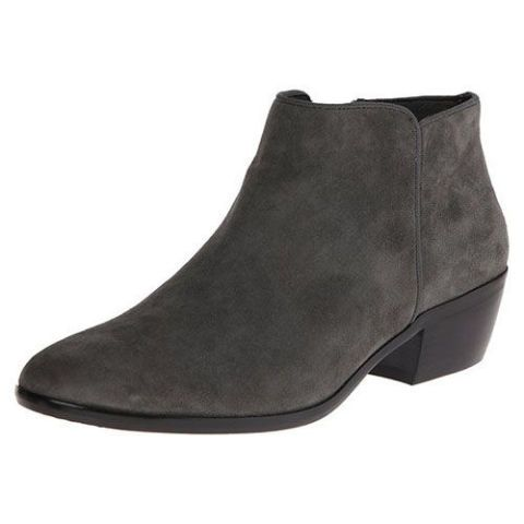 sam edelman petty booties in gray suede