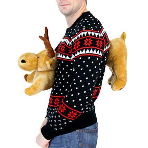 3D Sweater stuffed moose