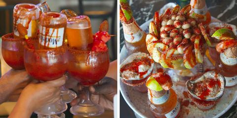 Giant micheladas are basically a Mexican bloody Mary at 20/20 Bar & Restaurant in LA