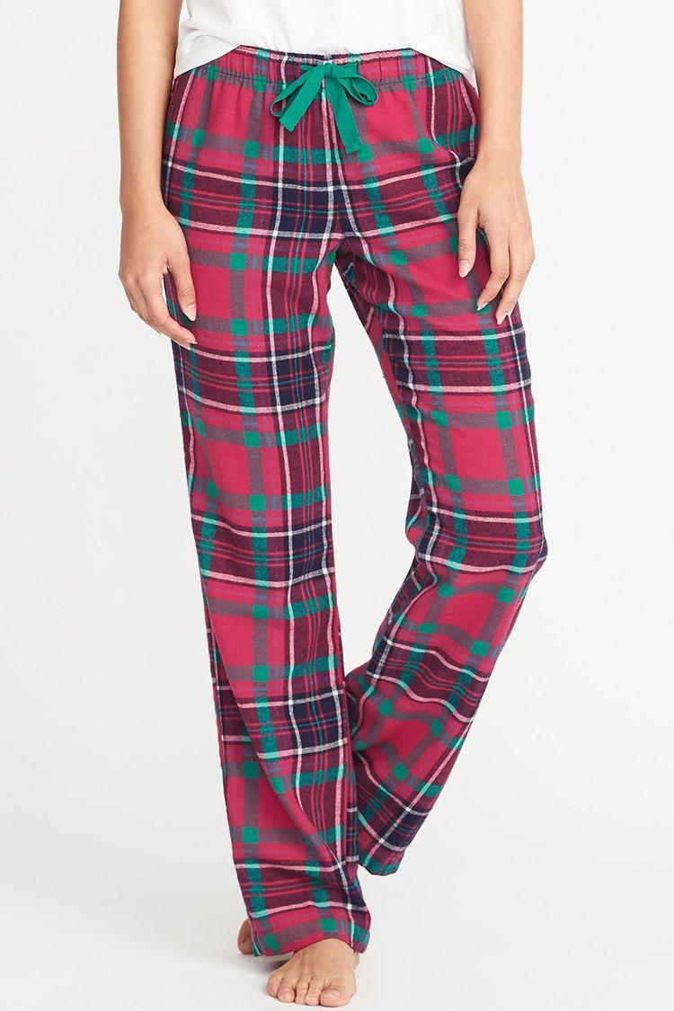 old navy plaid flannel pajamas