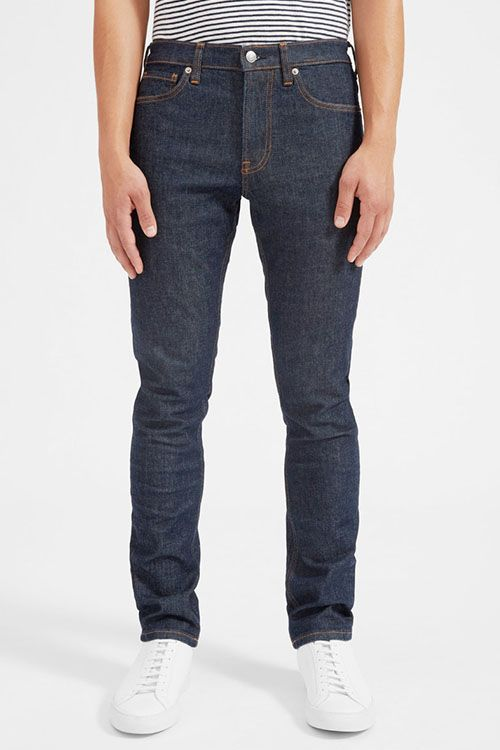 """<p><strong data-redactor-tag=""""strong"""" data-verified=""""redactor""""><em data-redactor-tag=""""em"""" data-verified=""""redactor"""">$68</em></strong> <a href=""""https://www.everlane.com/products/mens-slim-black-denim-jeans?collection=mens-jeans"""" target=""""_blank"""" class=""""slide-buy--button"""" data-tracking-id=""""recirc-text-link"""">BUY NOW</a></p><p>Everlane launched theperfect stretch slim-fit jean that's slightly tapered and slim through the hip and thighswithout looking too tight. For jeans made of premium Japanese denim, we can't believe the price tag on these bad boys! Excuse us while we snag them up in all three color ways (Dark Indigo, Stay Black, and Mid Blue, oh my!).</p>"""