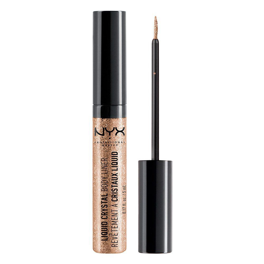 """<p>$4<a href=""""https://www.amazon.com/NYX-Liquid-Crystal-Liner-Champagne/dp/B004B451JQ/ref=sr_1_38_s_it?s=beauty&ie=UTF8&qid=1506540751&sr=1-38&keywords=glitter&tag=bp_links-20"""" target=""""_blank"""" class=""""slide-buy--button"""" data-tracking-id=""""recirc-text-link"""">BUY NOW</a></p><p>It's a liquid eyeliner, sure, but this """"Body Liner"""" is meant to be drawn <em data-redactor-tag=""""em"""">anywhere</em>. The possibilities are endless, but you can draw a peace sign or a heart on your bare shoulder to make a tank top and denim shorts instantly music-festival-ready. </p><p><strong data-redactor-tag=""""strong"""">More:</strong><a href=""""http://www.bestproducts.com/beauty/g421/glitter-nail-polish-colors/"""" data-tracking-id=""""recirc-text-link"""">Glitter Nail Polish to Brighten Up Your Mood</a><br></p>"""