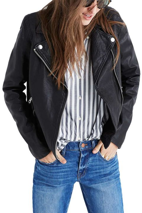 madewell black leather moto jacket