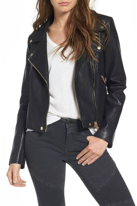 10 Cute Leather Moto Jackets For 2018 Womens Faux