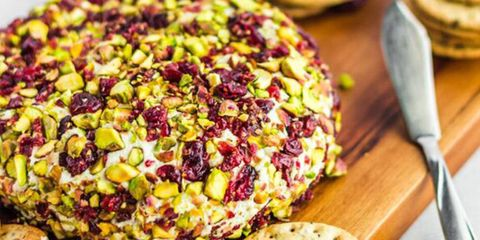 Thyme Pistachio Cranberry Vegan Cheeze Ball