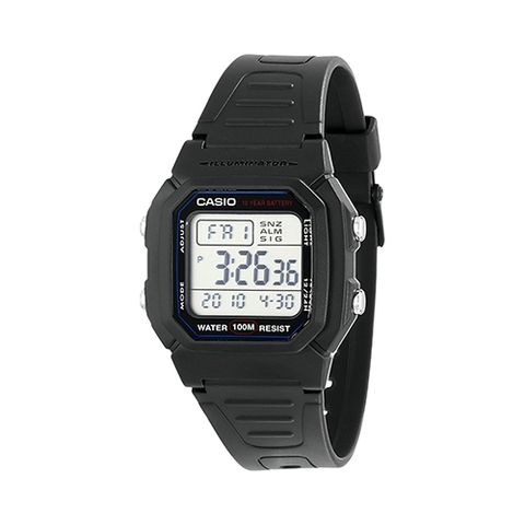 "<p><strong data-redactor-tag=""strong""><em data-redactor-tag=""em"">$12&nbsp;</em></strong><strong data-redactor-tag=""strong""><em data-redactor-tag=""em""><a href=""https://www.amazon.com/Casio-W800H-1AV-Classic-Sport-Watch/dp/B001AWZDA4/?tag=bp_links-20"" target=""_blank"" class=""slide-buy--button"" data-tracking-id=""recirc-text-link"">BUY NOW</a></em></strong><span class=""redactor-invisible-space"" data-verified=""redactor"" data-redactor-tag=""span"" data-redactor-class=""redactor-invisible-space""></span></p><p><span class=""redactor-invisible-space"" data-verified=""redactor"" data-redactor-tag=""span"" data-redactor-class=""redactor-invisible-space"">The W800H-1AV watch from Casio sports a nice retro and clean look, thanks to&nbsp;a solid band and a display that's easy to read. It's equipped with a 10-year battery module, a durable waterproof case, and an illuminator for checking the time in the dark. It's packed with several features that'll come in handy, like a stopwatch, the ability to switch time zones, alarms, and a countdown timer.<span class=""redactor-invisible-space"" data-verified=""redactor"" data-redactor-tag=""span"" data-redactor-class=""redactor-invisible-space"">&nbsp;If you're looking for a reliable digital sport watch that's reasonable in price, you can't go wrong with this Casio.<span class=""redactor-invisible-space"" data-verified=""redactor"" data-redactor-tag=""span"" data-redactor-class=""redactor-invisible-space""></span></span></span></p><p><span class=""redactor-invisible-space"" data-verified=""redactor"" data-redactor-tag=""span"" data-redactor-class=""redactor-invisible-space""><span class=""redactor-invisible-space"" data-verified=""redactor"" data-redactor-tag=""span"" data-redactor-class=""redactor-invisible-space""><span class=""redactor-invisible-space"" data-verified=""redactor"" data-redactor-tag=""span"" data-redactor-class=""redactor-invisible-space""><strong data-verified=""redactor"" data-redactor-tag=""strong"">Related:&nbsp;</strong><a href=""http://www.bestproducts.com/tech/gadgets/g2445/digital-watches-from-cheap-to-luxurious/"" data-tracking-id=""recirc-text-link"" target=""_blank"">15 Digital Watches Ranging From Affordable to Luxurious</a><span class=""redactor-invisible-space"" data-verified=""redactor"" data-redactor-tag=""span"" data-redactor-class=""redactor-invisible-space""><a href=""http://www.bestproducts.com/tech/gadgets/g2445/digital-watches-from-cheap-to-luxurious/""></a></span><br></span></span></span></p>"