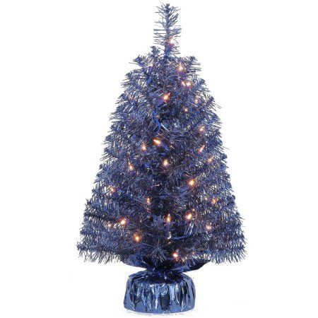 Holiday Time Pre-Lit 2' Noble Fir Artificial Christmas Tree