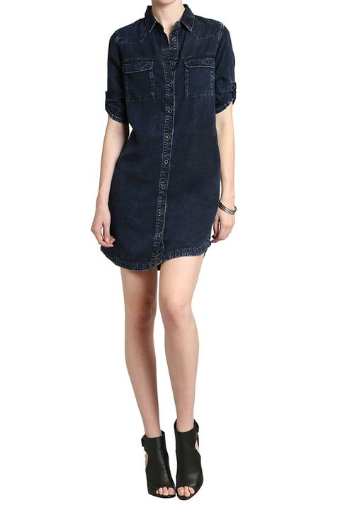 mavi jeans denim shirtdress