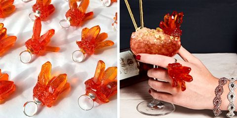 Sweet Saba collaborate with Campari to create a special edition cocktail ring.