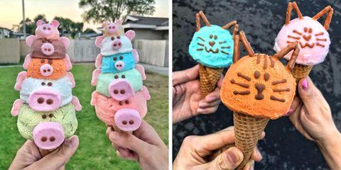 Eiswelt Gelato in Los Angeles, California turns gelato into animals