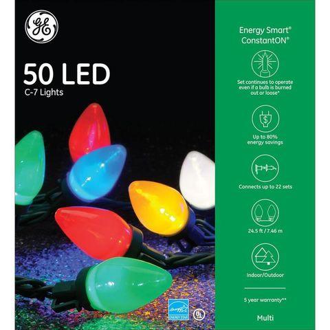 ge energy smart colorite 50 light led multi color c7 light set