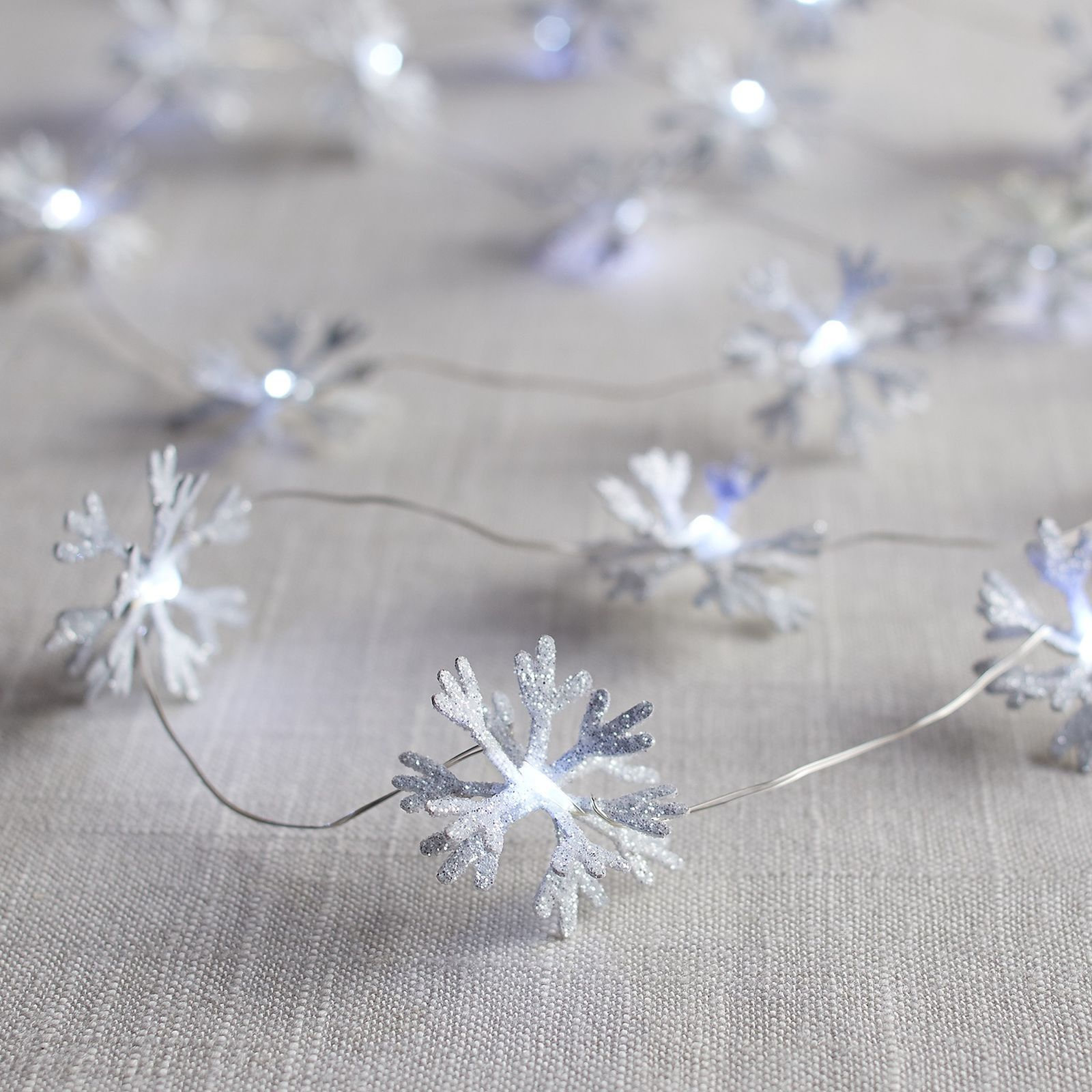 Pier 1 Imports Snowflake 10' LED Glimmer Strings