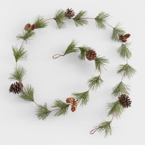 World Market Pine And Pinecone Garland