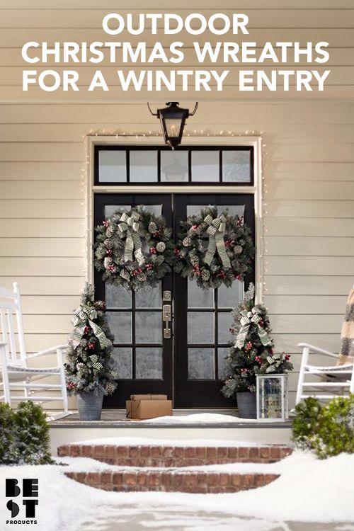 12 best christmas wreaths for your front door holiday wreaths for 2018 - Outdoor Christmas Wreaths
