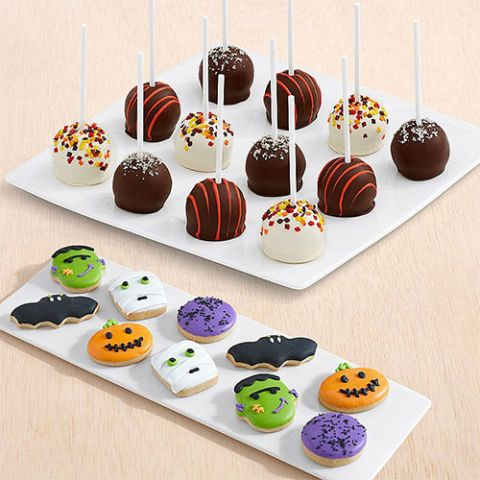 Shari's Berries 10 Halloween Mini Cookies & 12 Autumn Cake Pops