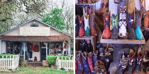 The Boot Whisperer in Wimbery, Texas can find you the perfect pair of cowboy boots by looking at your feet