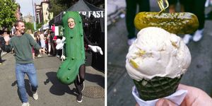 New York City Annual 2017 Pickle Day in the Lower East Side