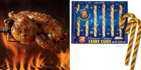 Rotisserie Chicken Candy Canes are a Great Holiday Treat