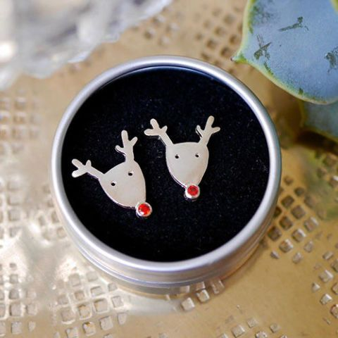 rudolph silver stud earrings