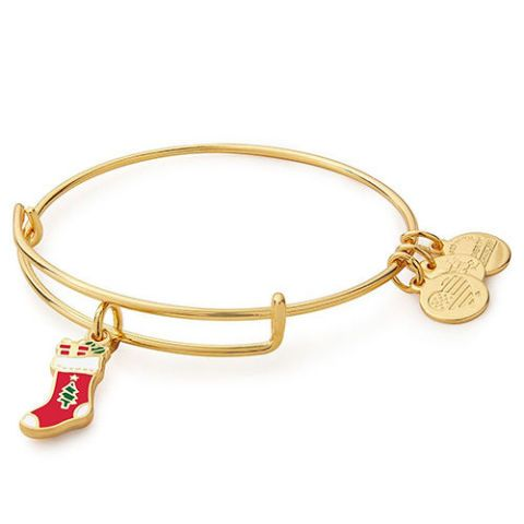 alex and ani gold stocking bracelet