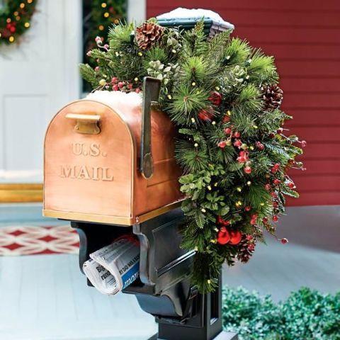 Grandin Road Mackinley Cordless Mailbox Swag